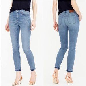 J. Crew lookout high rise skinny crop denim pants
